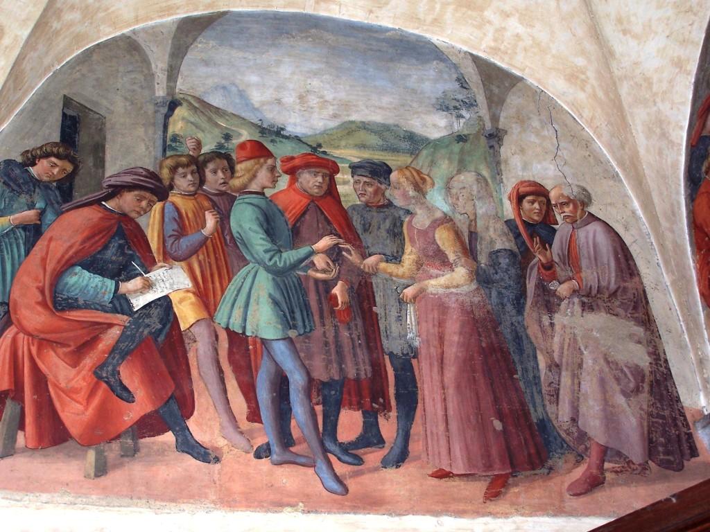 Buonomini - Ghirlandaio fresco 1