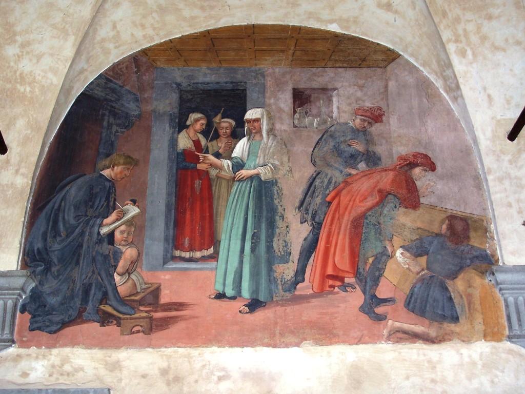Buonomini - Ghirlandaio fresco 10
