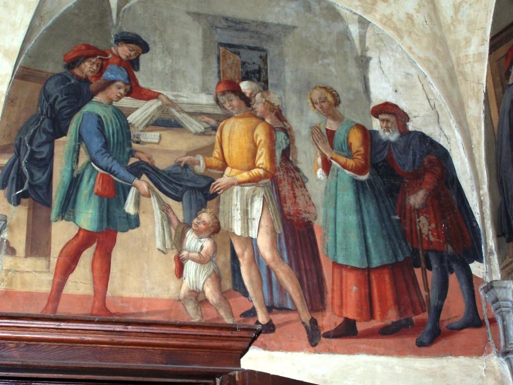 Buonomini - Ghirlandaio fresco 3