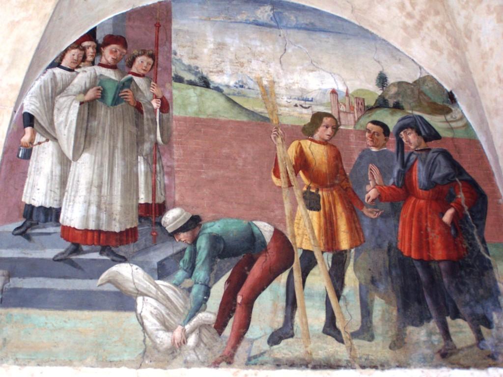 Buonomini - Ghirlandaio fresco 7