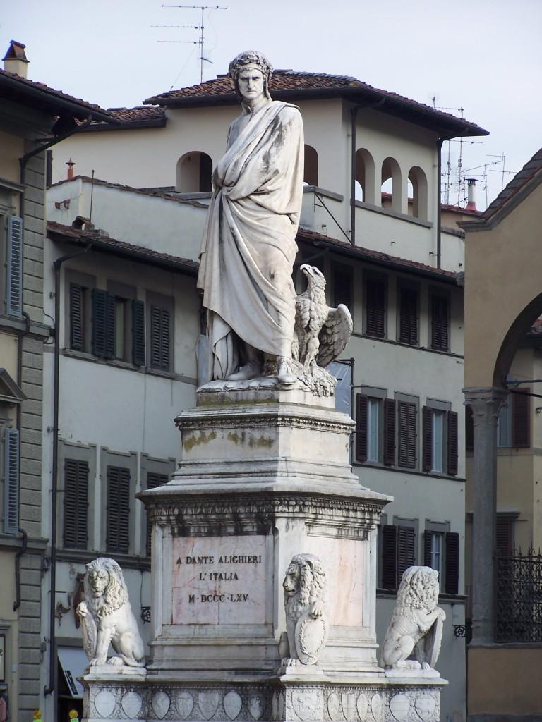 A Dante Alighieri L'Italia M.DCCC.LXV monument - Piazza della Santa Croce