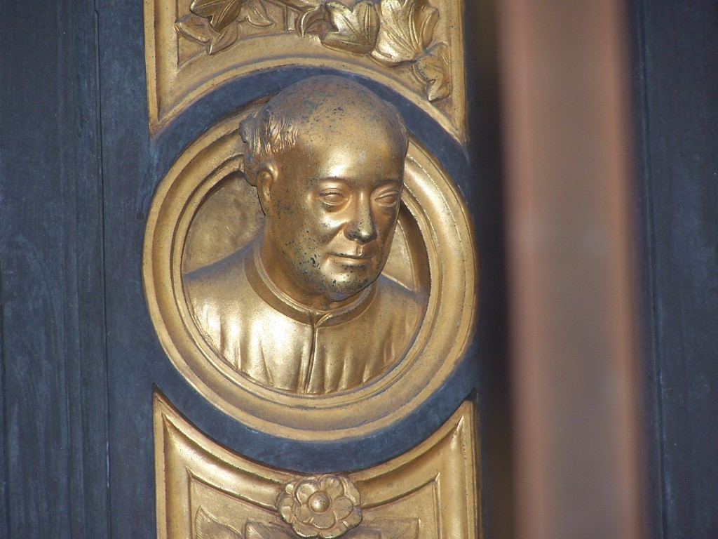 Golden Doors - Ghiberti - self-portrait