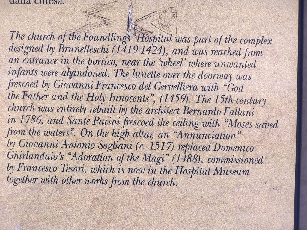 Ospedale degli Innocenti - description