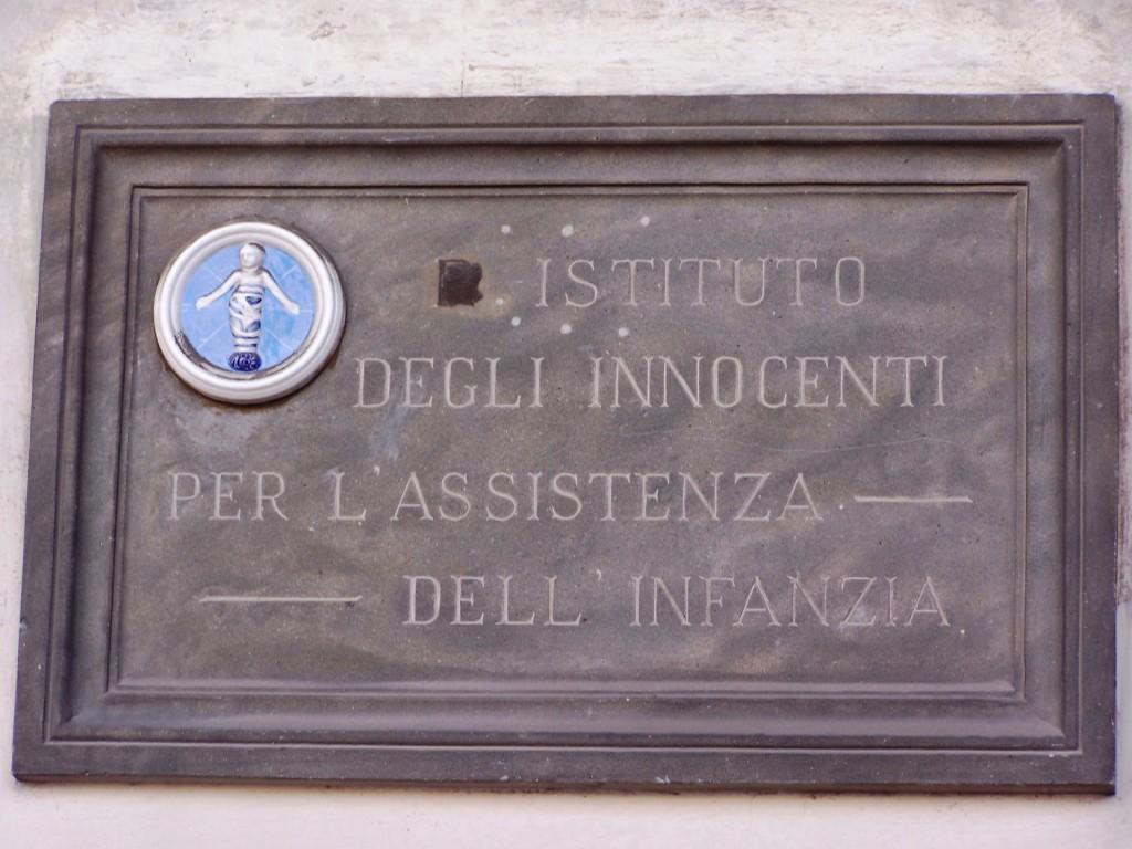 Ospedale degli Innocenti - plaque
