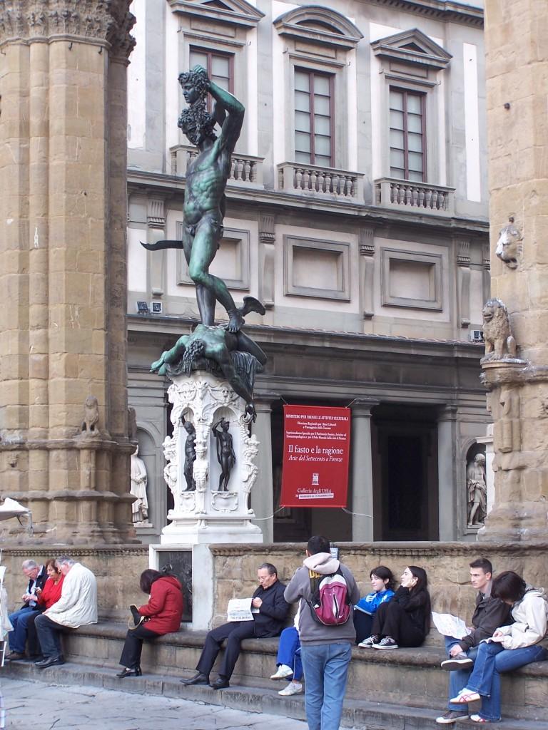 Piazza della Signoria - Cellini's Perseus
