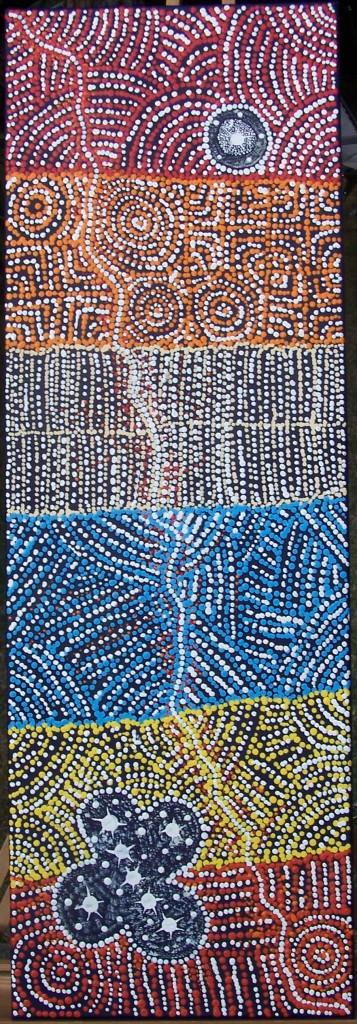 Alicka Napanangka Brown - Yanjirlpirri or Napaljarri-Warnu Jukurrpa