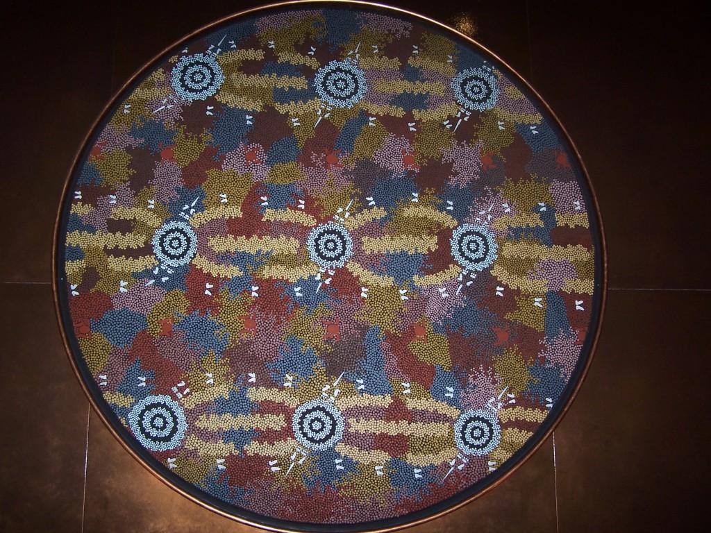 Arrungu Dreaming at Ulyitjirrki Clifford Possum Tjapaltjarri (Anmatjira) 1984