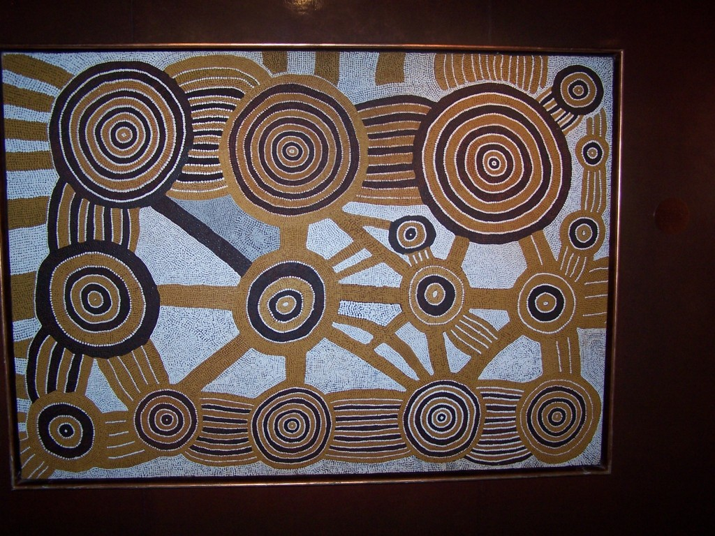 The Artist's Country from Tjuntju to Kalipyinpa Patjaingurrarra Tjapaltjarri (Ngaatjatjarra) 1984