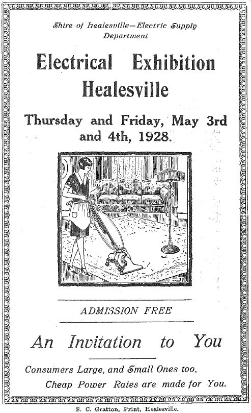 Electrical Exhibition Healesville 1928 p1