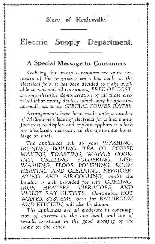 Electrical Exhibition Healesville 1928 p2