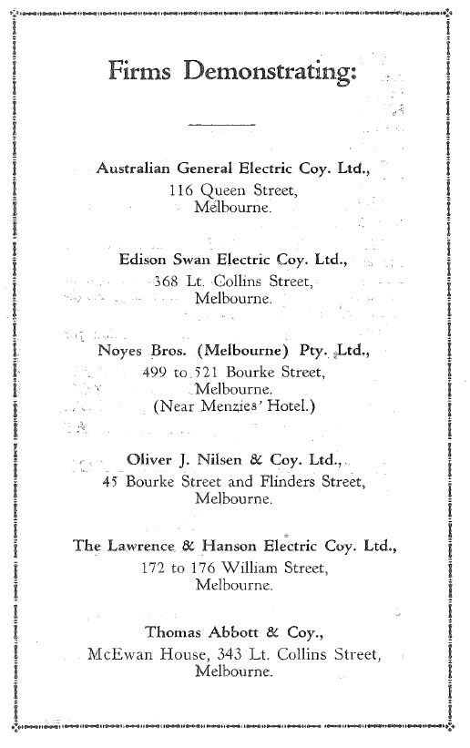 Electrical Exhibition Healesville 1928 p4